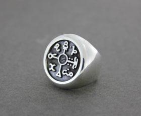 Серебряная печатка по индивидуальному эскизу