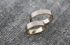 Обручальные кольца с матовой поверхностью