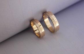 Обручальные кольца с рельефом