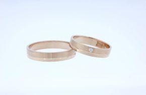 Обручальные кольца с матовой и глянцевой поверхностью