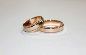 Обручальные кольца с окантовкой по краям