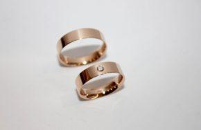 Обручальные кольца с плоским профилем