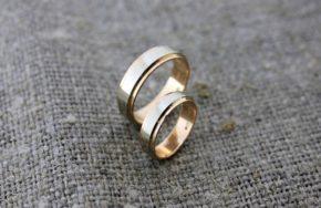 Комбинированные обручальные кольца