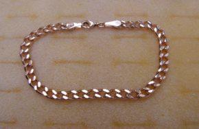 Золотой браслет Панцирный