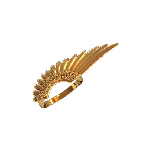 Золотое кольцо в форме крыла