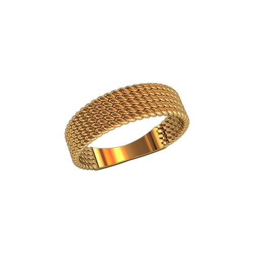 Кольцо с плетенной фактурой