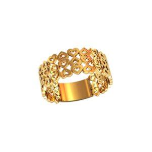 Золотое кольцо с сердечками