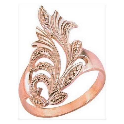 Кольцо с узором из листьев