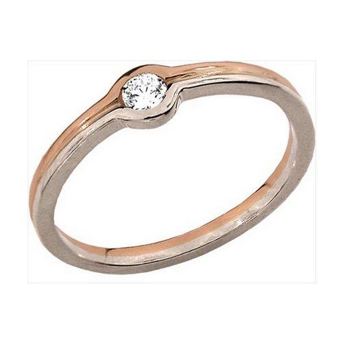 Кольцо с белым золотом